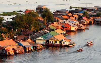 Ciudades flotantes en Camboya