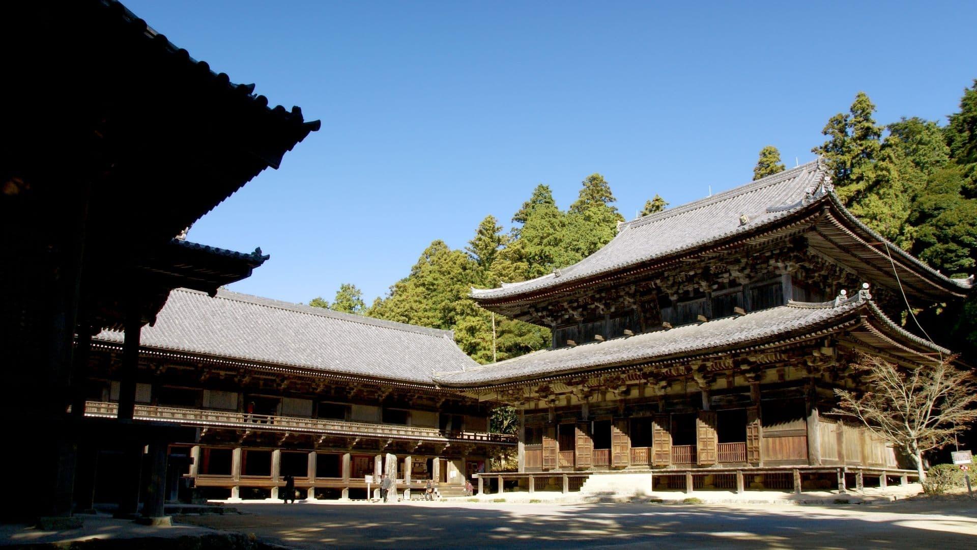 el Templo Shoshazan Engyo-ji, en Himeji, Japón, y la película El últimosamurái.
