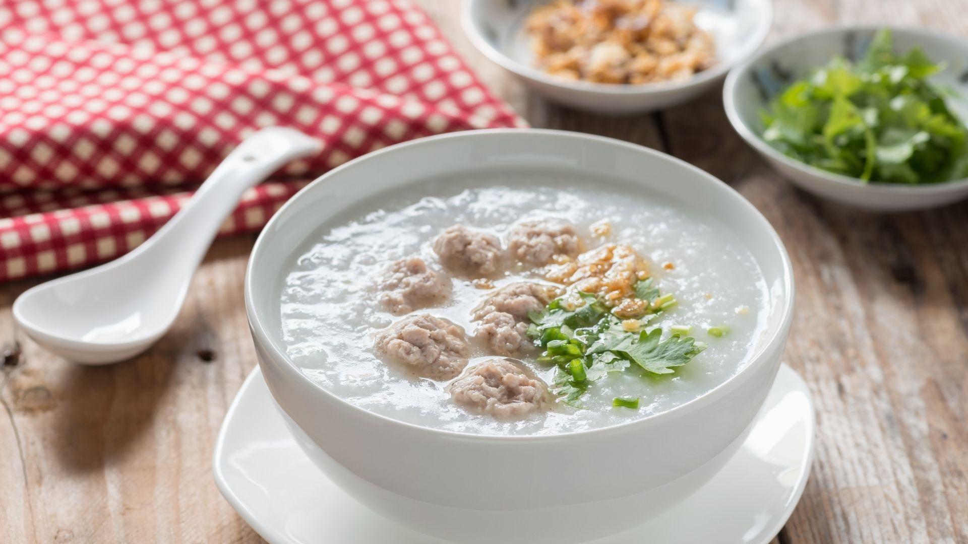 Congee gachas de arroz