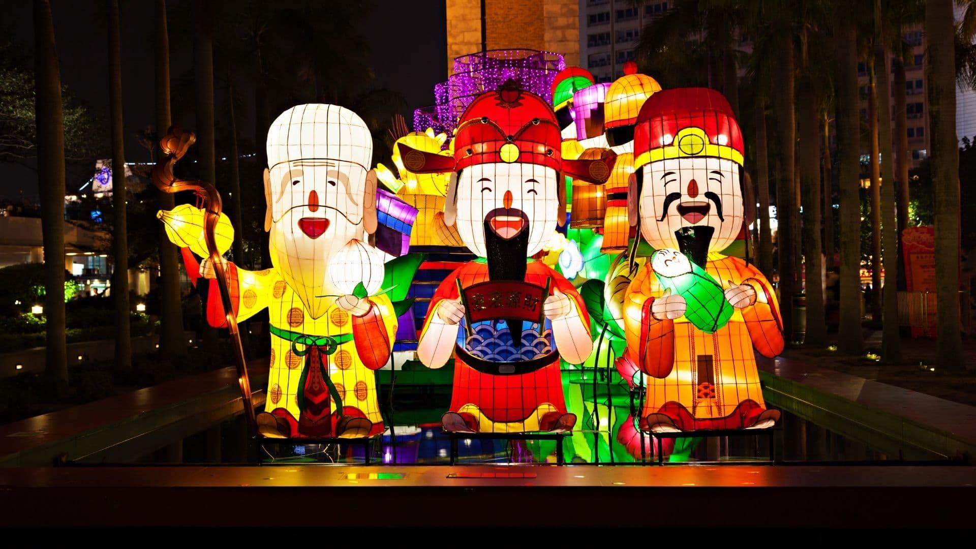 Celebración del año nuevo lunar en Hong Kong