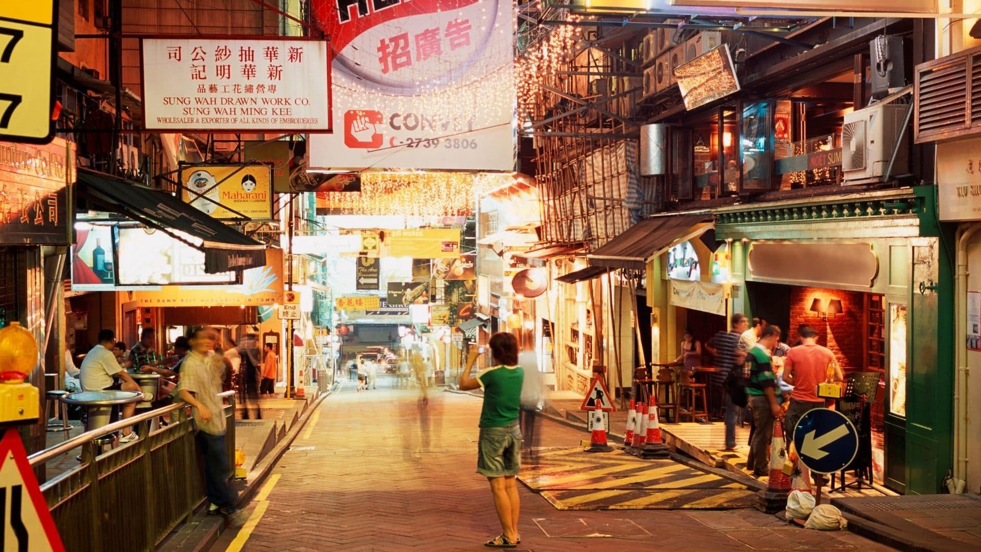 vida nocturna en Hong Kong