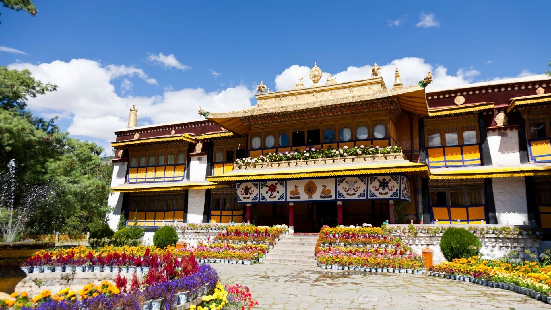 El Palacio de Verano Conocido como Norbulingka en Lhasa Tibet