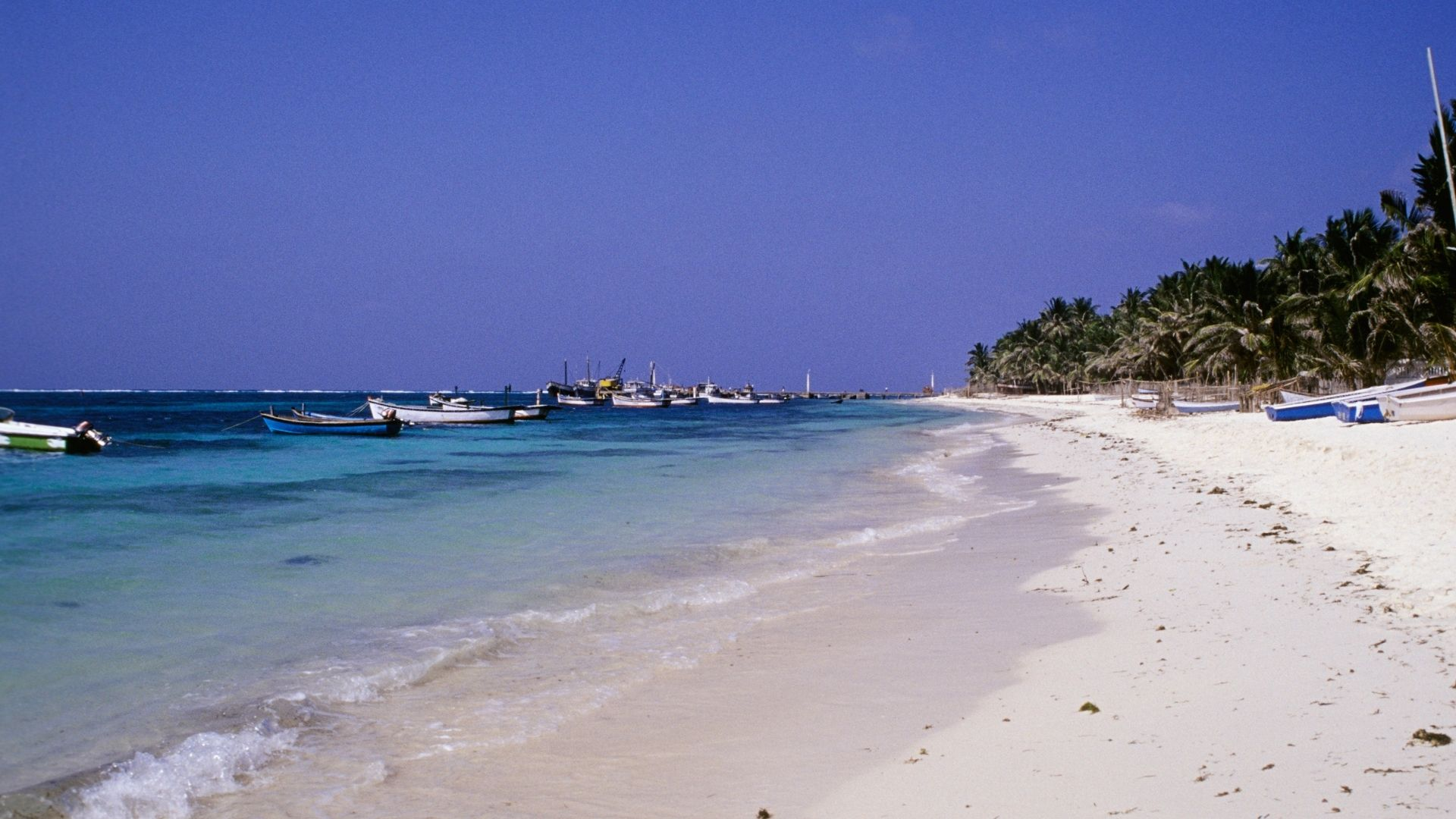 Una de las islas que conforman el archipiélado de las Islas Laquedivas en India
