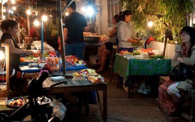 Laos: El Mercado Nocturno de Luang Prabang