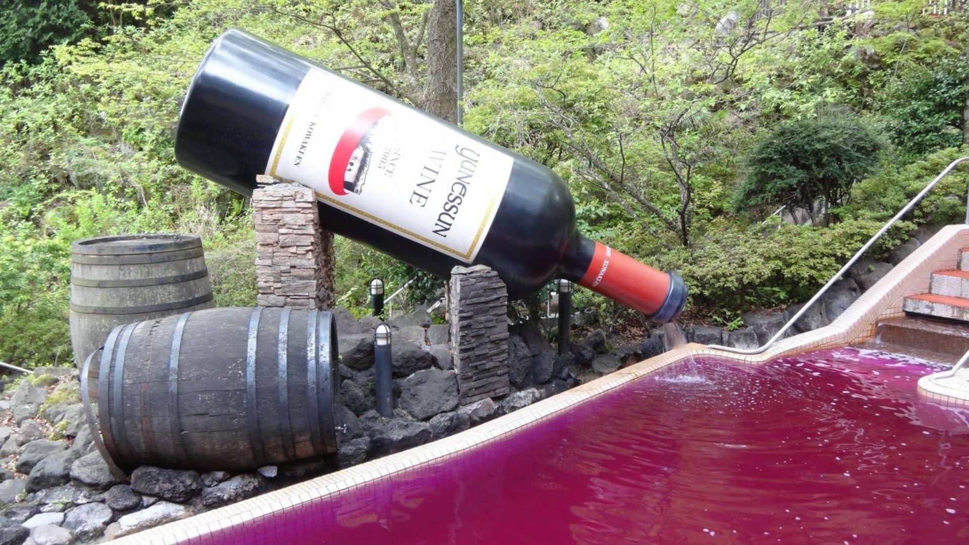 Spa con baño de vino en Japon