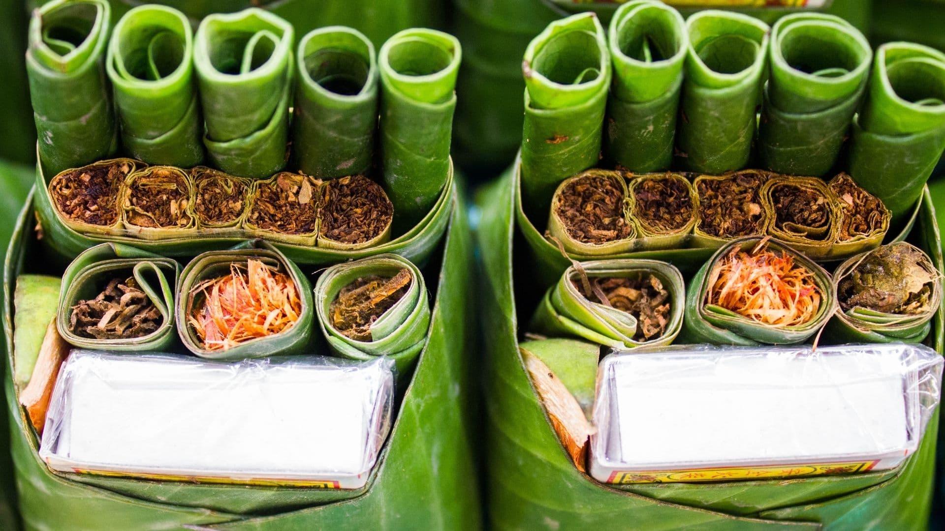 betel o tabaco de Myanmar