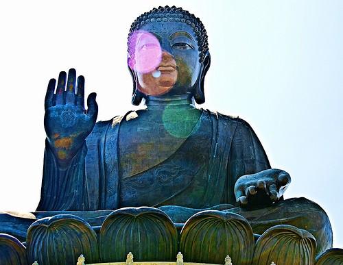 El gran buda de bronce de Hong Kong