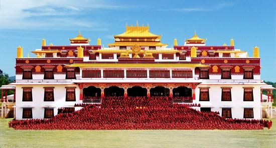 El monasterio de Drepung en Lhasa, Tíbet