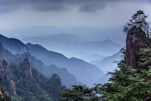 La fascinante montaña china de Sanqinq
