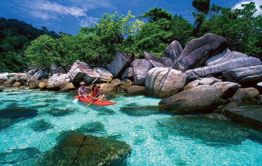 La bahía de Phang Nga en Tailandia