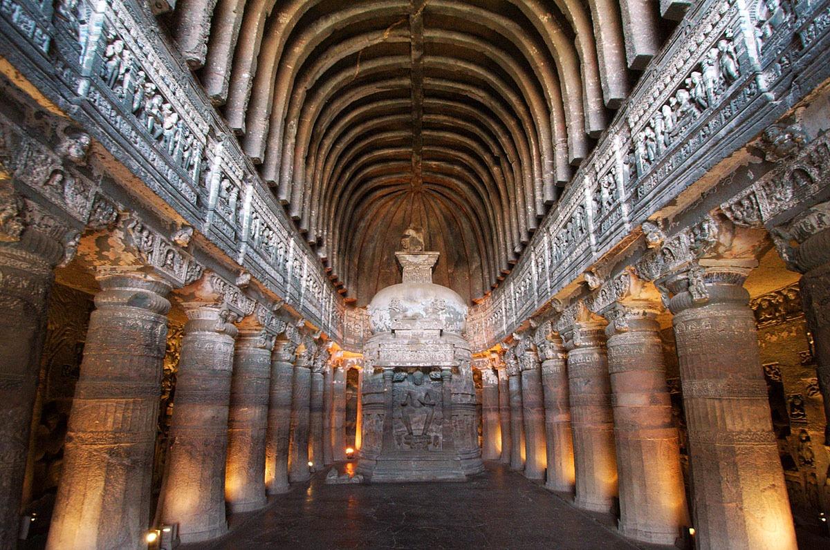 India y las cuevas de Ajanta