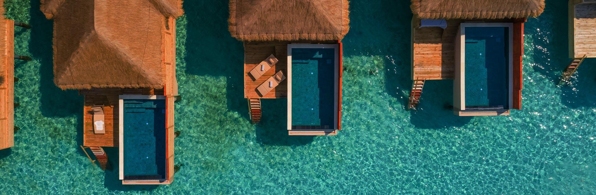 Kuda fushi Water Villa with Pool Aerial