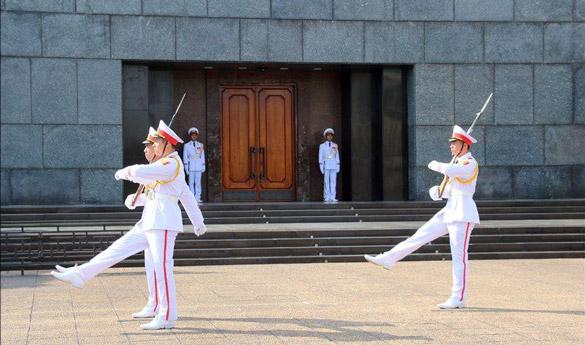 El mausoleo de Ho Chi Minh