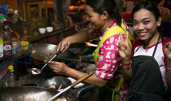 Datos de comida callejera en tu viaje a Camboya