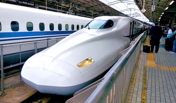 El famoso tren bala de Japón