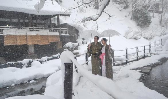 Invierno en Hokkaido, Japón