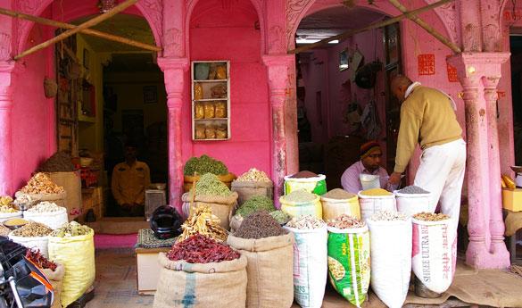 Mercado de las especias en Bikaner