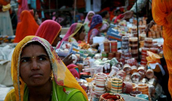 El bazar de Jaisalmer en India