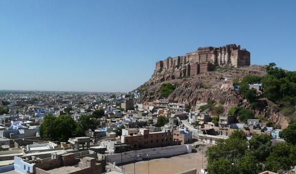 El fuerte de Mehrangarh en Jodphur India