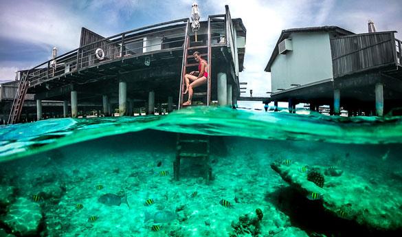 Las water villas de Maldivas