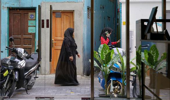 Gente local de Malé en Maldivas