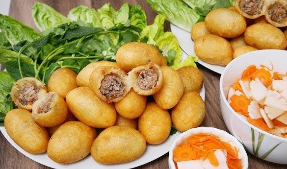 Banh Ran Thit plato tradicional vietnamita