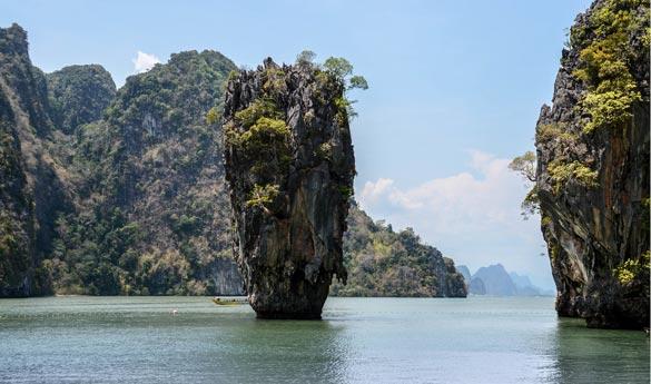 Playa de james Bond Tailandia