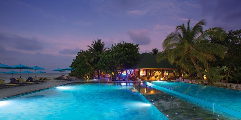 La isla de Helengeli en Maldivas