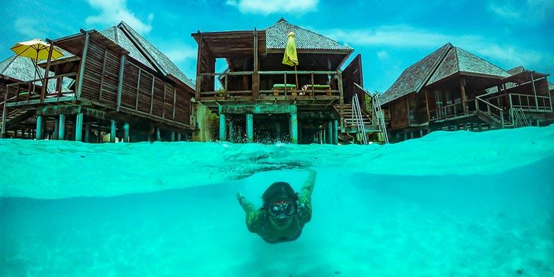 La isla Kaashidhoo en Maldivas