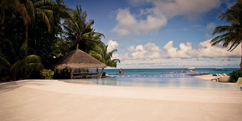 La isla Kuramathi en Maldivas