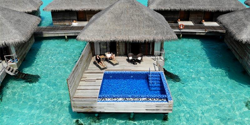 La isla Ookolhufinolhu de Maldivas