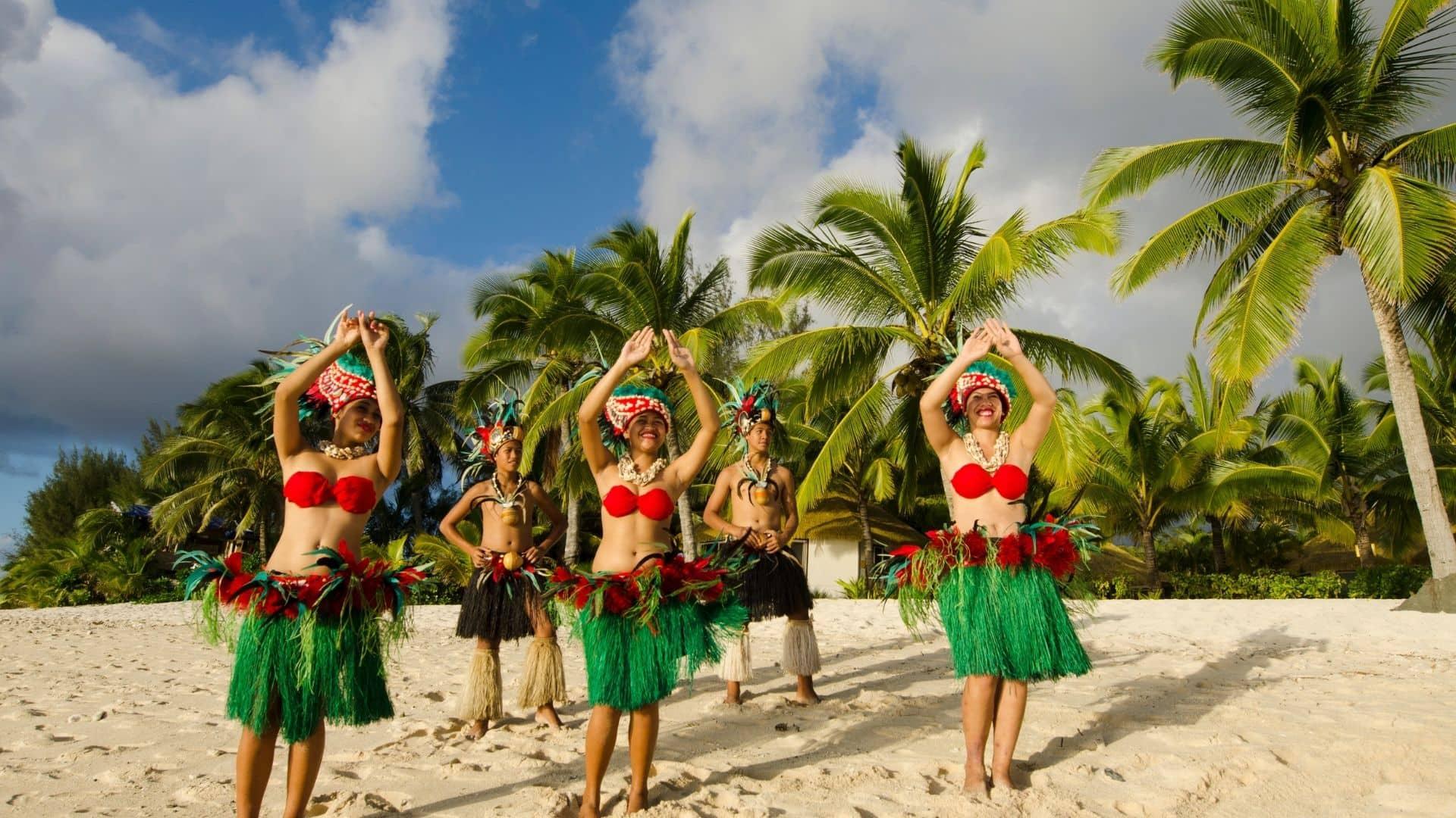 Población joven de tahiti