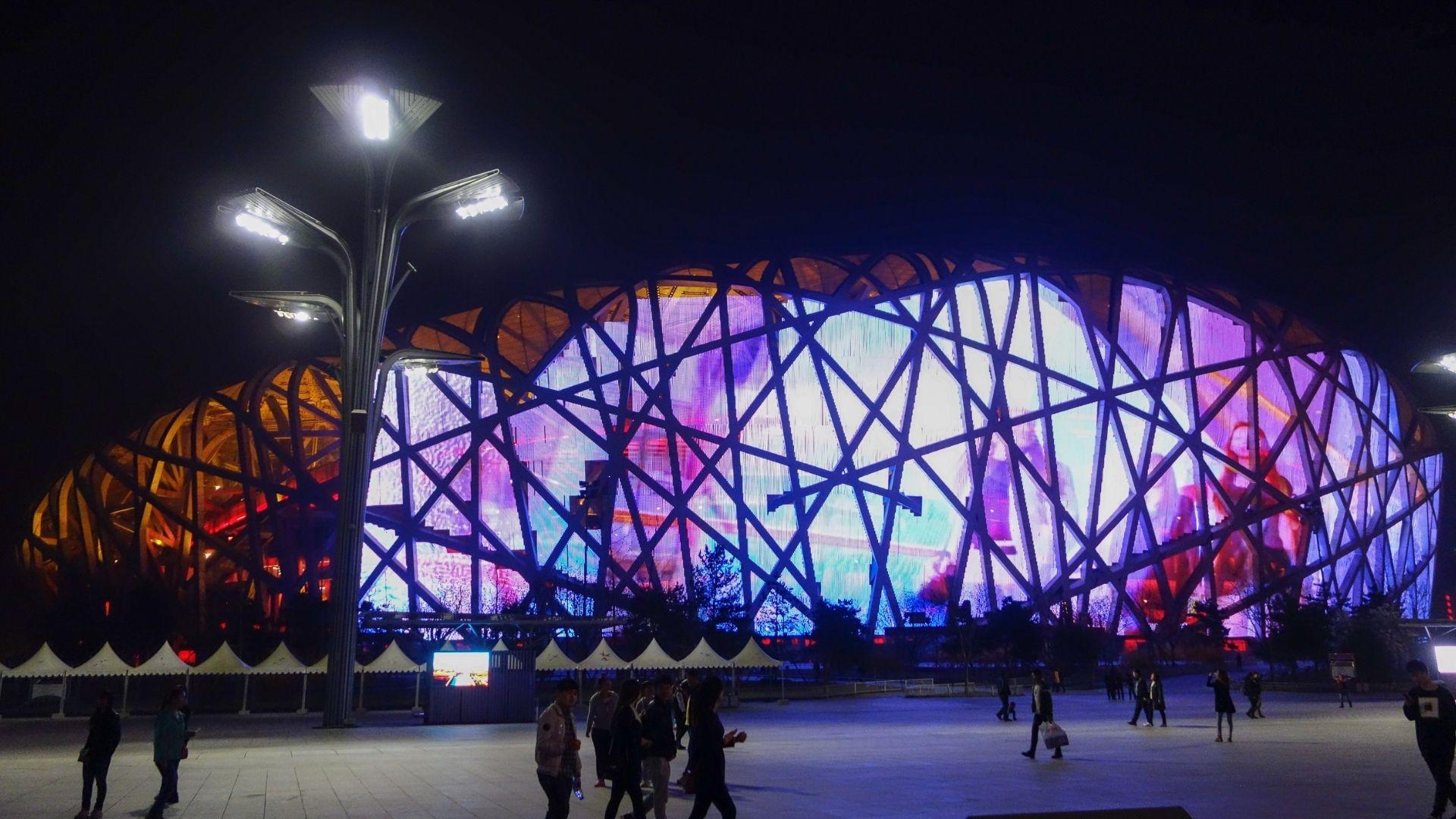el estadio Nido de Pájaro es una de las razones para viajar a china