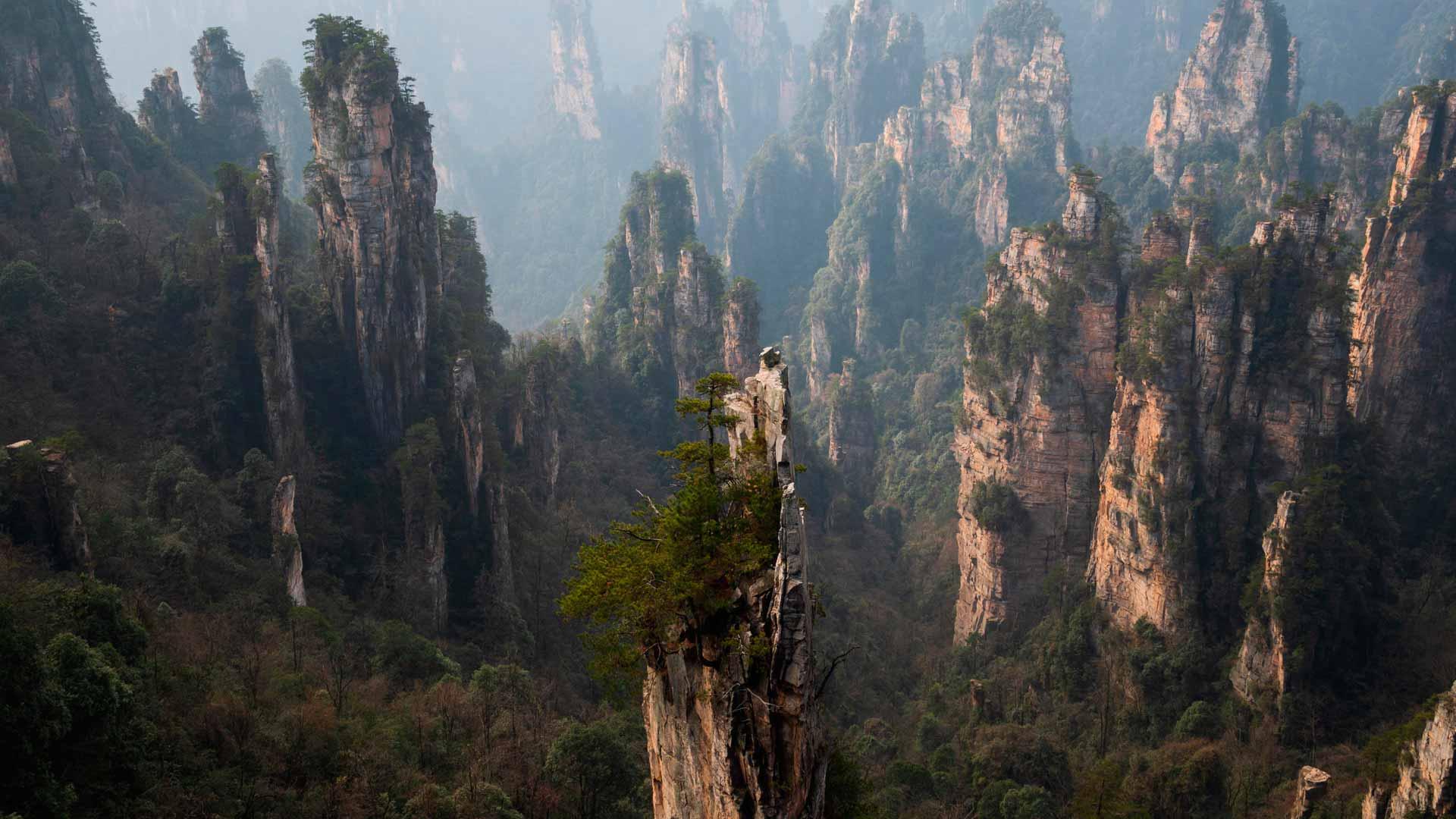 El Parque Nacional de Zhangjiajie es uno de los lugares más especiales en China